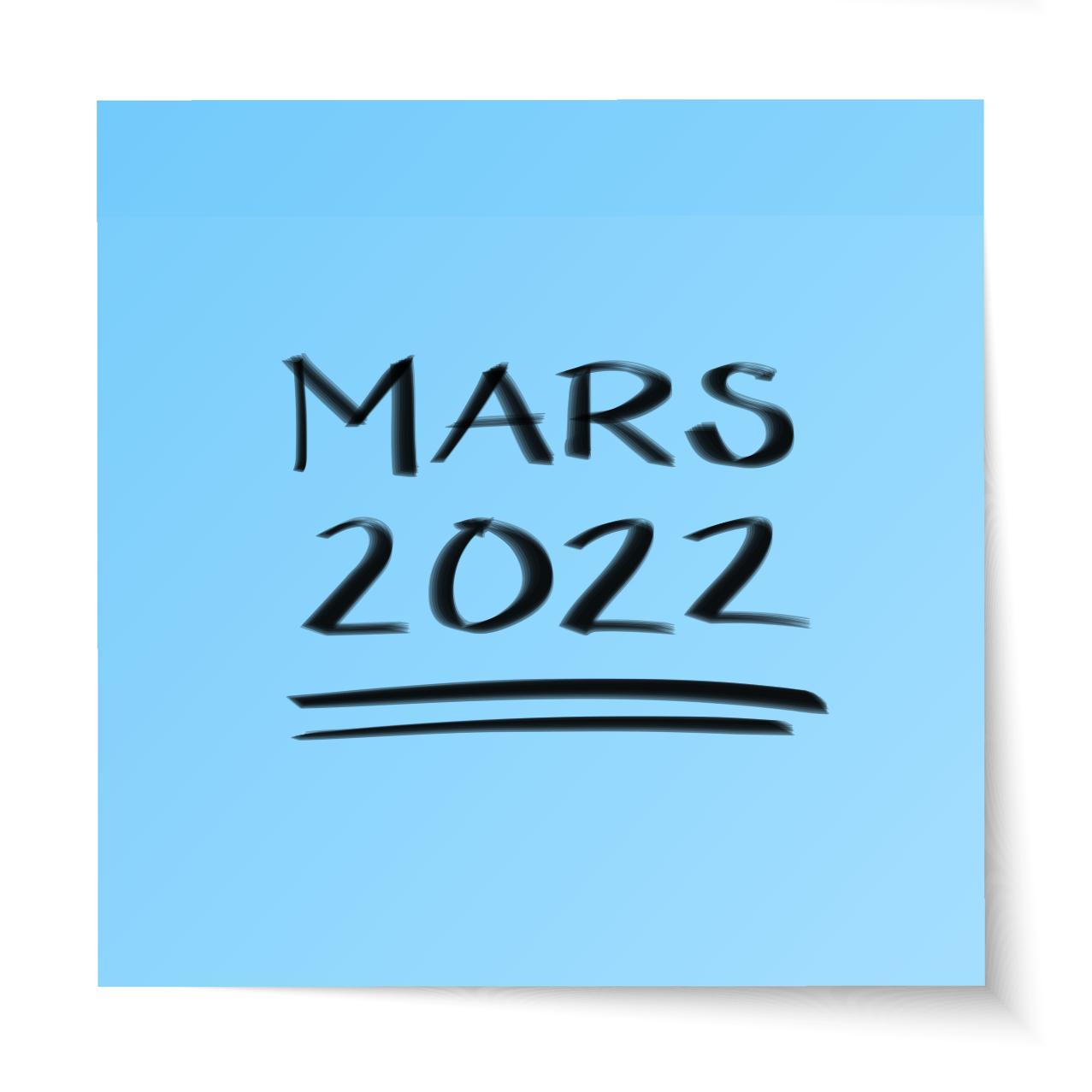 Mars 2022